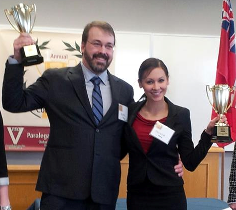 2013 Paralegal Cup Champions, Olivia Ho and Royce Calverley - Canadian Business College