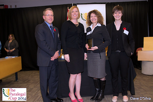 2014 Paralegal Cup 2nd Top Distinguished Oral Advocate Award, Silvana Lombardo - Humber College
