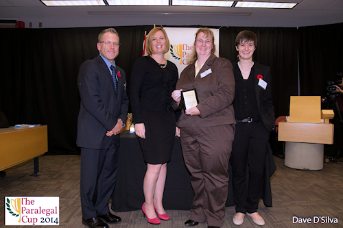 2014 Paralegal Cup 3rd Top Distinguished Oral Advocate Award, Suzanne Paulin - Algonquin Careers Academy