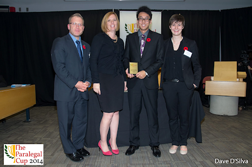 2014 Paralegal Cup 4th Top Distinguished Oral Advocate Award, Clifton Yiu - Seneca College