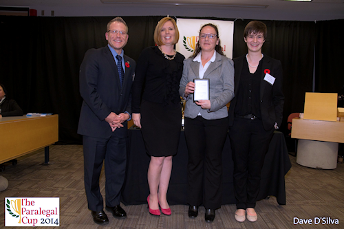 2014 Paralegal Cup 5th Top Distinguished Oral Advocate Award, Laura Vessey - Seneca College