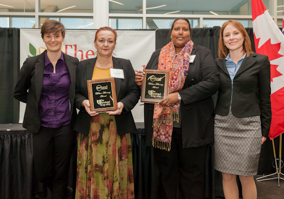 2015 Paralegal Cup Emond Publishing Written Advocacy Award recipients, Karen Jacobs and Alia Ahmed Osman - Algonquin Careers Academy