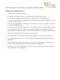 Official 2015 Competition Rules