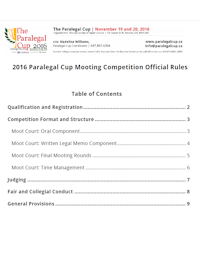 Official 2016 Competition Rules