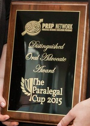 Paralegal Cup PREP Network Oral Advocacy Award